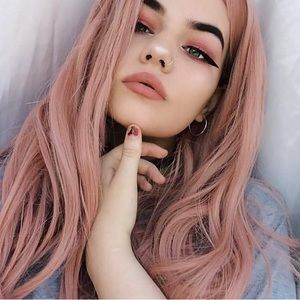 """💫 22"""" PINK NATURAL WAVE LACE FRONT WIG💫 *NEW*"""